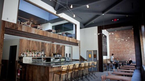 Inside bar and tables