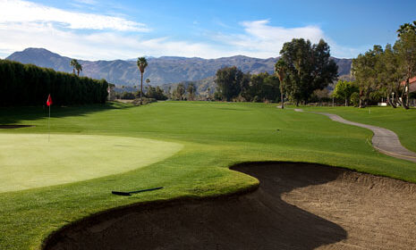 green golf course view