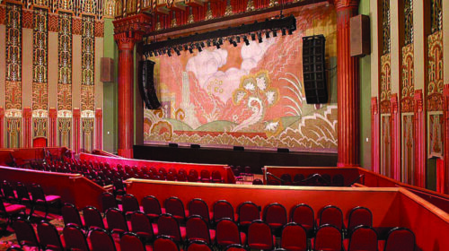 Stage and seating