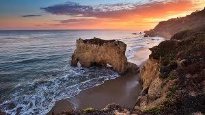 Sunset, beautiful beach
