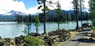 Lakes, mountains, tress