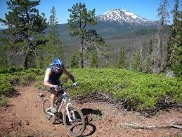 Bike rider in the mountains